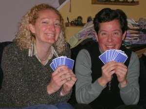 We played a lot of cards during this visit.